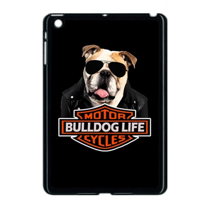 Bulldog biker Apple iPad Mini Case (Black)