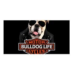 Bulldog Biker Satin Shawl