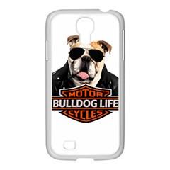 Bulldog Biker Samsung Galaxy S4 I9500/ I9505 Case (white)