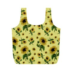 Sunflowers Pattern Full Print Recycle Bags (m)