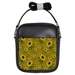 Sunflowers Pattern Girls Sling Bags