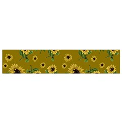 Sunflowers Pattern Flano Scarf (small)