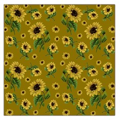Sunflowers Pattern Large Satin Scarf (square)