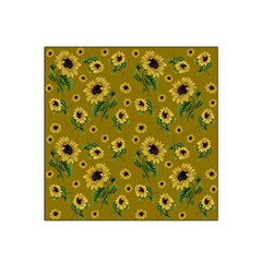 Sunflowers Pattern Satin Bandana Scarf
