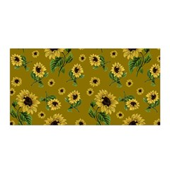 Sunflowers Pattern Satin Wrap