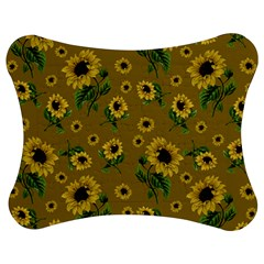 Sunflowers Pattern Jigsaw Puzzle Photo Stand (bow)