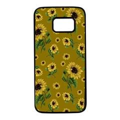 Sunflowers Pattern Samsung Galaxy S7 Black Seamless Case