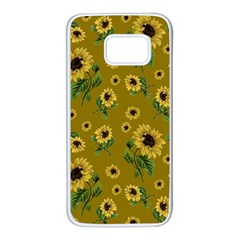 Sunflowers Pattern Samsung Galaxy S7 White Seamless Case
