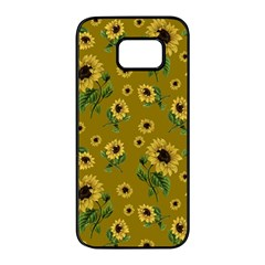 Sunflowers Pattern Samsung Galaxy S7 Edge Black Seamless Case