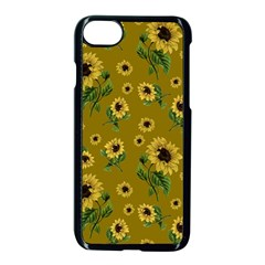 Sunflowers Pattern Apple Iphone 7 Seamless Case (black)