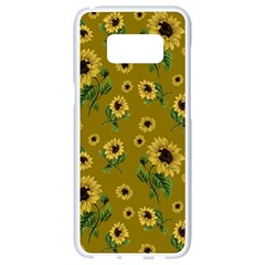Sunflowers Pattern Samsung Galaxy S8 White Seamless Case