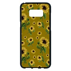 Sunflowers Pattern Samsung Galaxy S8 Plus Black Seamless Case