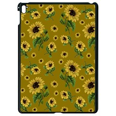 Sunflowers Pattern Apple Ipad Pro 9 7   Black Seamless Case