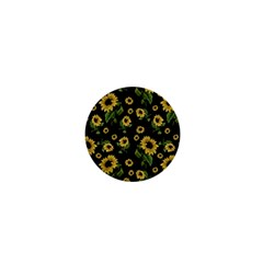 Sunflowers Pattern 1  Mini Buttons