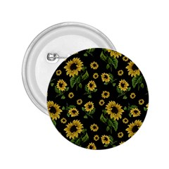 Sunflowers Pattern 2 25  Buttons