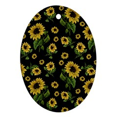 Sunflowers Pattern Ornament (oval)