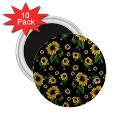 Sunflowers Pattern 2 25  Magnets (10 Pack)