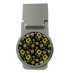 Sunflowers Pattern Money Clips (round)
