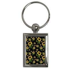 Sunflowers Pattern Key Chains (rectangle)