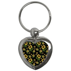 Sunflowers Pattern Key Chains (heart)