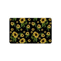 Sunflowers Pattern Magnet (name Card)