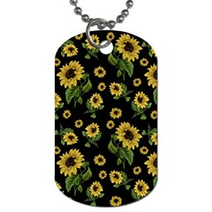 Sunflowers Pattern Dog Tag (one Side)