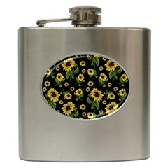 Sunflowers Pattern Hip Flask (6 Oz)
