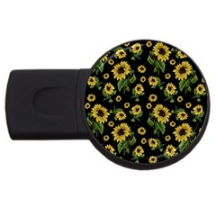 Sunflowers Pattern Usb Flash Drive Round (2 Gb)