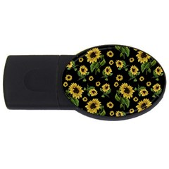 Sunflowers Pattern Usb Flash Drive Oval (2 Gb)