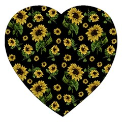 Sunflowers Pattern Jigsaw Puzzle (heart)