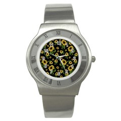 Sunflowers Pattern Stainless Steel Watch