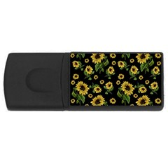 Sunflowers Pattern Rectangular Usb Flash Drive