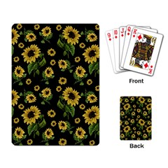 Sunflowers Pattern Playing Card