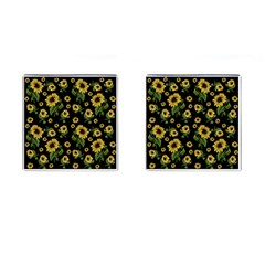 Sunflowers Pattern Cufflinks (square)