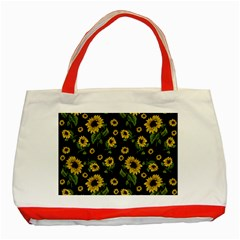 Sunflowers Pattern Classic Tote Bag (red)
