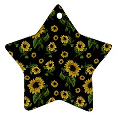 Sunflowers Pattern Star Ornament (two Sides)
