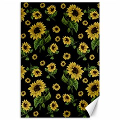 Sunflowers Pattern Canvas 12  X 18