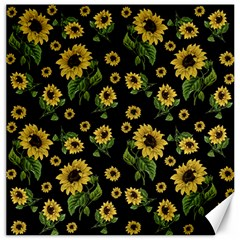 Sunflowers Pattern Canvas 16  X 16