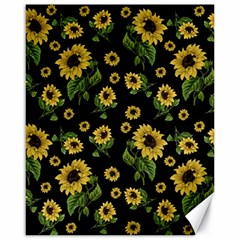Sunflowers Pattern Canvas 16  X 20