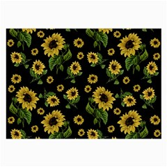 Sunflowers Pattern Large Glasses Cloth
