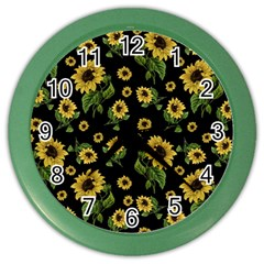 Sunflowers Pattern Color Wall Clocks