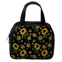 Sunflowers Pattern Classic Handbags (one Side)
