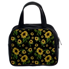 Sunflowers Pattern Classic Handbags (2 Sides)