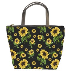 Sunflowers Pattern Bucket Bags