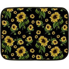 Sunflowers Pattern Double Sided Fleece Blanket (mini)