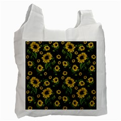 Sunflowers Pattern Recycle Bag (two Side)