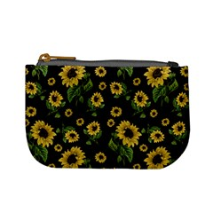 Sunflowers Pattern Mini Coin Purses