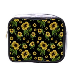 Sunflowers Pattern Mini Toiletries Bags