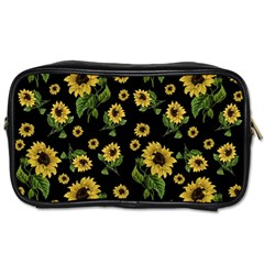 Sunflowers Pattern Toiletries Bags 2 Side