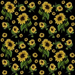 Sunflowers Pattern Magic Photo Cubes
